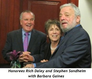 1 - Honorees Rich Daley and Stephen Sondheim with Barbara Gaines