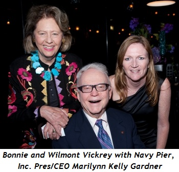 13 - Bonnie and Wilmont Vickrey with Navy Pier, Inc. Pres-CEO Marilynn Kelly Gardner