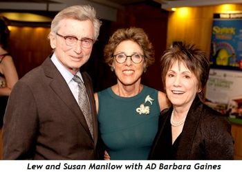 15 - Lew and Susan Manilow with AD Barbara Gaines