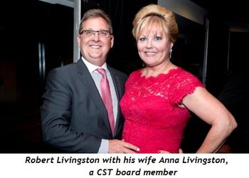 17 - Robert Livingston with his wife Anna Livingston, a CST Board member