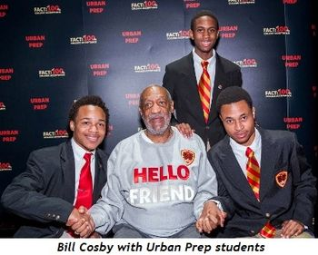 1 - Bill Cosby with Urban Prep Academies students