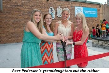 1 - Peer Pedersen's granddaughters cut the ribbon