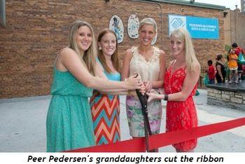 1 - Peer Pedersen's granddaughters cut the ribbon