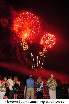 Fireworks at Goombay Bash 2012