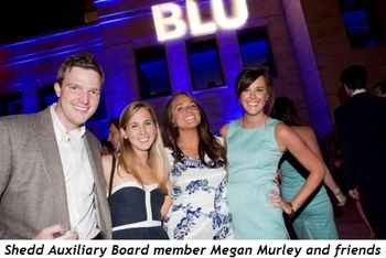 7 - Shedd Auxiliary Board member Megan Murley and friends