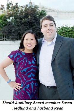 9 - Shedd Auxiliary Board member Susan Hedlund and husband Ryan