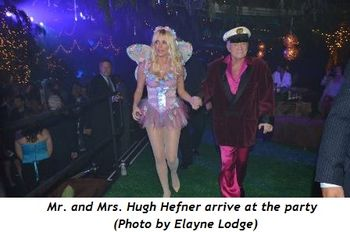 1 - Mr. and Mrs. Hugh Hefner arrive at the party (Photo by Elayne Lodge)