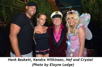 5 - Hank Baskett, Kendra Wilkinson, Hef and Crystal (Photo by Elayne Lodge)