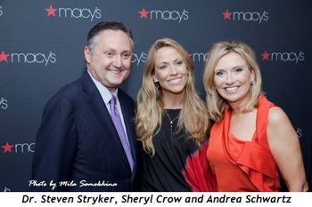 1 - Dr. Steven Stryker, Sheryl Crow and Andrea Schwartz