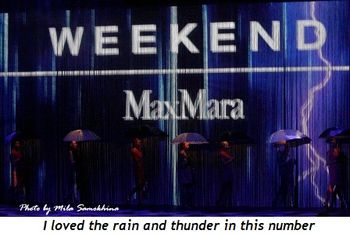 17 - I loved the rain and thunder in this number