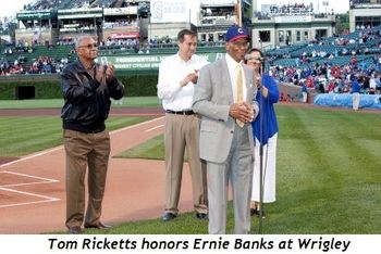 1 - Tom Ricketts honors Ernie Banks in Wrigley