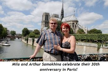4 - Mila and Arthur Samokhina celebrate their 30th anniversary in Paris!