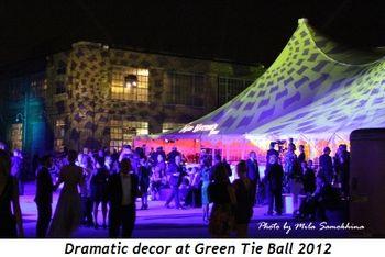 9 - Dramatic decor at Green Tie Ball 2012