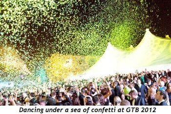 2 - Dancing under a sea of confetti at GTB 2012
