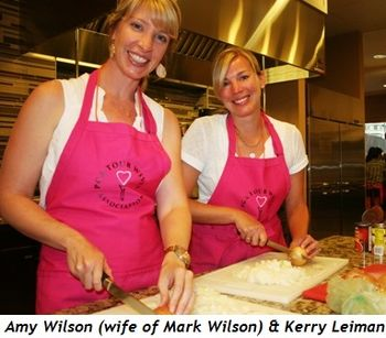 Amy Wilson (wife of Mark Wilson) and Kerry Leiman