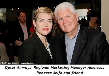 8 - Rebecca Jelfo, Regional Marketing Manager Americas at Qatar Airways and friend