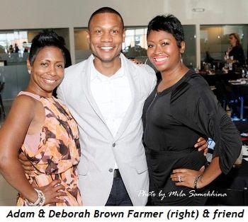 17 - Adam and Deborah Brown Farmer (right) and friend