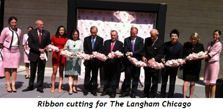 2 - Ribbon cutting for The Langham Chicago