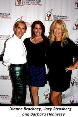 Dianne Brackney, Jory Strosberg, and Barbara Hennessy