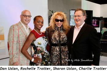 3 - Dan Uslan, Rochelle Trotter, Sharon Uslan and Charlie Trotter
