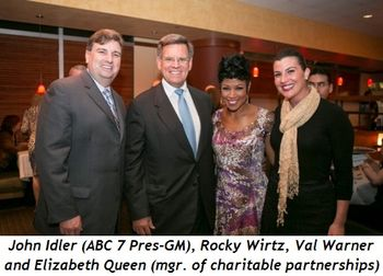 John Idler (ABC 7 Pres-GM), Rocky Wirtz, Val Warner and Elizabeth Queen (Mngr Charitable Partnerships)