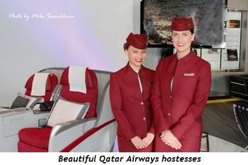 10 - Beautiful Qatar Airways hostesses