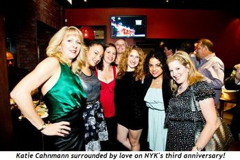 Katie Cahnmann surrounded by love on NYK's 3rd anniversary