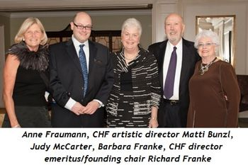 14 - Anne Fraumann, CHF artistic director Matti Bunzl, Judy McCarter, Barbara Franke, CHF director emeritus-founding chair Richard Franke