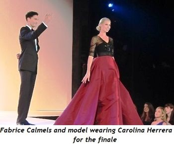4 - Fabrice Calmels and model wearing Carolina Herrera for the finale