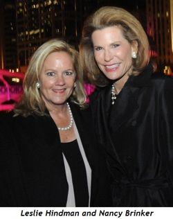 4 - Leslie Hindman, Nancy Brinker