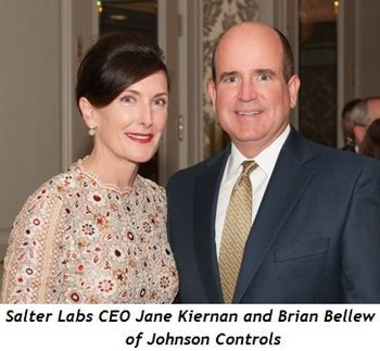 Salter Labs CEO Jane Kiernan and Brian Bellew of Johnson Controls