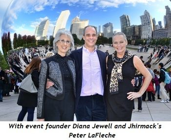 6 - With event founder, Diana Jewell, and Jhirmack's Peter LaFleche