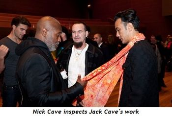2 - Nick Cave inspects Jack Cave's work