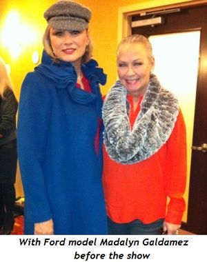 11 - With Ford model Madalyn Galdamez before show
