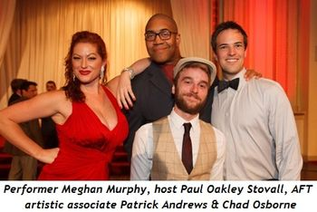 1 - Guest performer Meghan Murphy, event host Paul Oakley Stovall, AFT Artistic Associate Patrick Andrews and Chad Osborne