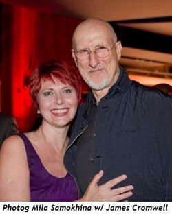 2 - Photog Mila Samokhina with James Cromwell