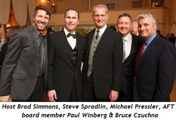 2 - Event Host Brad Simmons, Steve Spradlin, Michael Pressler, AFT Board member Paul Winberg and Bruce Czuchna