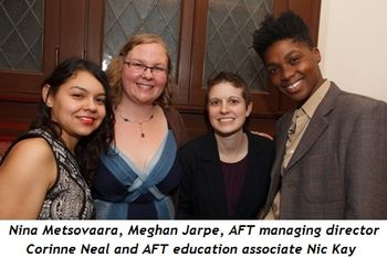 3 - Nina Metsovaara, Meghan Jarpe, AFT Managing Director Corinne Neal and AFT Education Associate Nic Kay