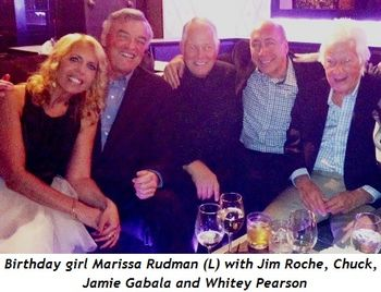 2 - Birthday girl Marissa Rudman (L) with Jim Roche, Chuck, Jamie Gabala and Whitey Pearson