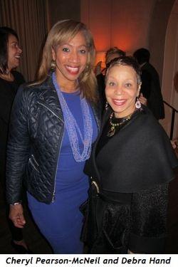Cheryl-Pearson McNeil and artist Debra Hand