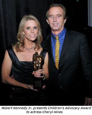 Robert Kennedy Jr. presents Children's Advocacy Award to actress Cheryl Hines