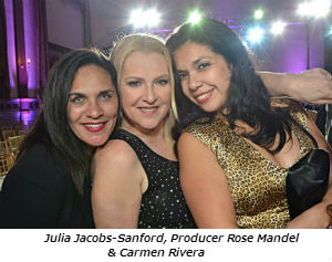 Julia Jacobs-Sanford, producer Rose Mandel and Carmen Rivera