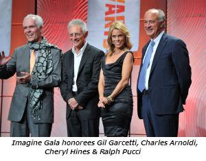 Imagine Gala honorees Gil Garcetti, Charles Arnoldi, Cheryl Hines and Ralph Pucci