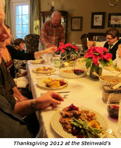 Thanksgiving 2012 at the Steinwalds