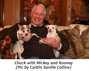 Chuck with Rooney and Mickey