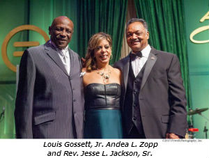 Louis Gossett Jr Andea L Zopp and Rev Jesse L Jackson Sr