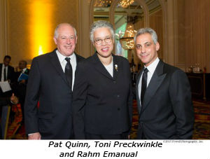 Pat Quinn Toni Preckwinkle and Rahm Emanual