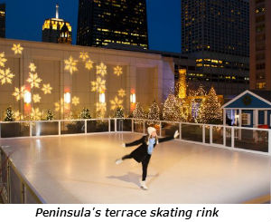 Peninsulas terrace skating rink