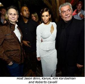 Host Jason Binn Kanye Kim Kardashian and Roberto Cavalli