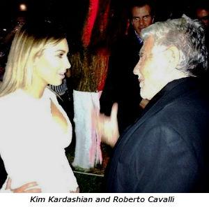 Kim Kardashian and Roberto Cavalli